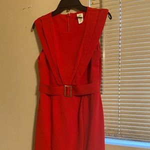 Red dress sleeveless